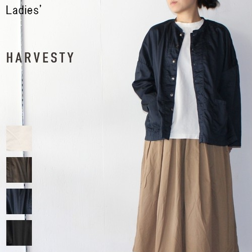 HARVESTY アトリエシャツ Atelier Shirt A41601 (NAVY) 【Ladies'】