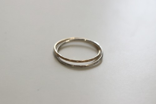 Roughness -gold × silver- / Ring