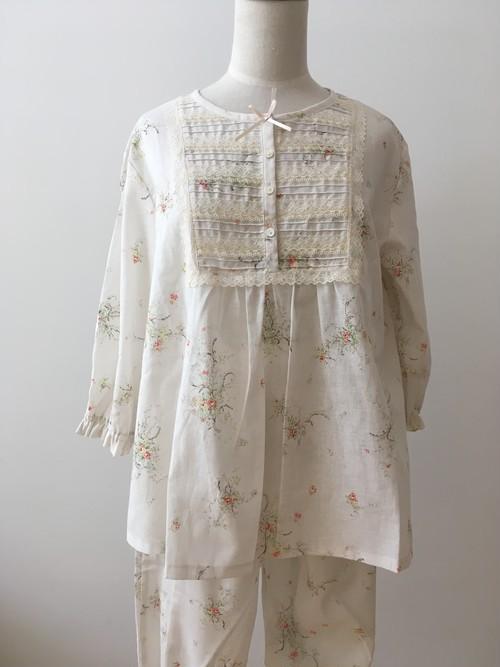 【IKUKO】 パジャマ(五分袖) シングルガーゼ コットン100