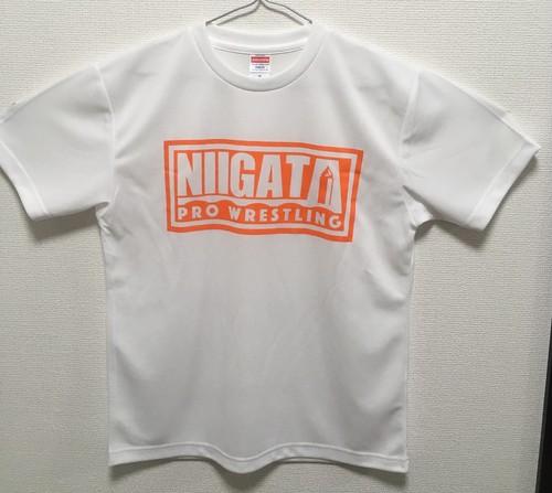 新潟プロレスロゴ ドライTシャツ ホワイト