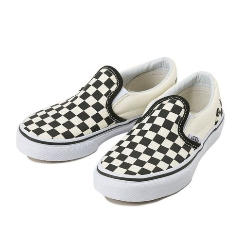 VANS Classic Slip-On KIDS  Black&WhiteChckerboard/Wht
