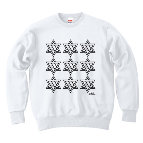 ERICH / NINTH HEXAGRAM CREWNECK SWEAT WHITE