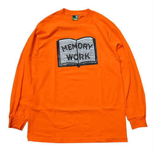 VOYAGE UTOPIA / MEMORY WORK L/S T-SHIRT -ORANGE-