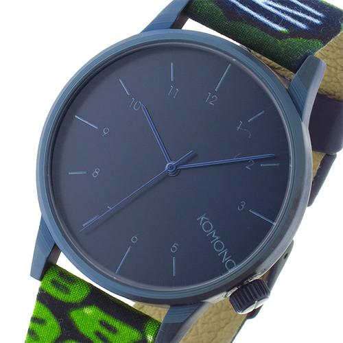 コモノ KOMONO Winston-Vlisco-Indigo クオーツ メンズ 腕時計 KOM-W2902 インディゴブルー ブルー