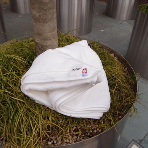 【今治タオル/片面シャーリング(白色)】米国綿オーガニックバスタオル