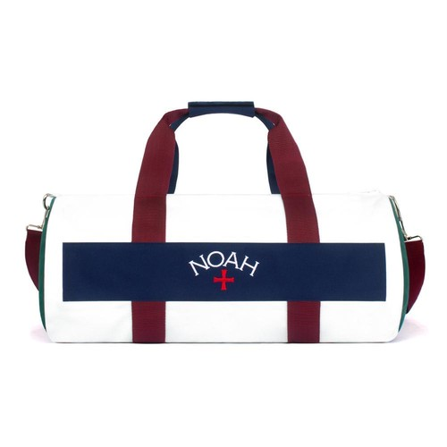 Color-Blocked Duffel(White)
