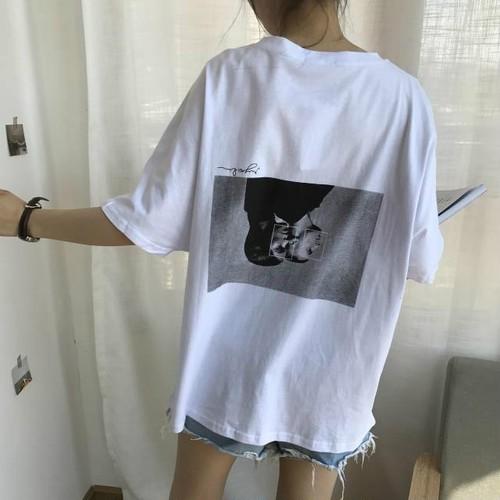 【❤トップス】プリントカジュアル人気TOP1ラウンドネック超お得なTシャツ19519281