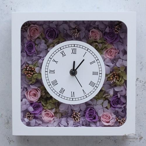 花時計*スクエアパープル