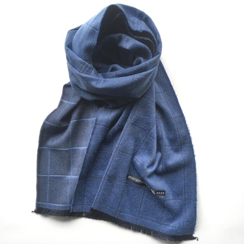 WINDOW PANE REVERSIBLE SILK MUFFLER - 11 color