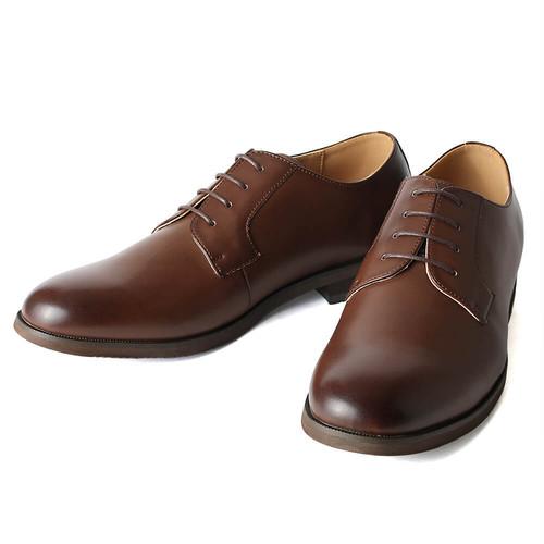 【Midland Footwears】 外羽根 プレーントゥ シューズ 〈Brown〉
