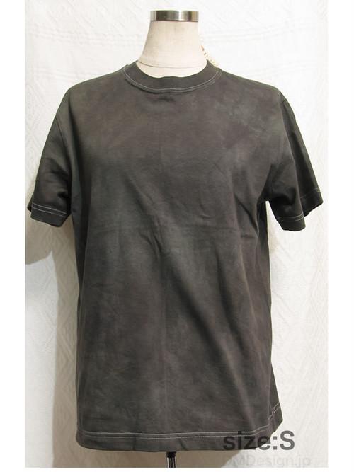 手染め一点ものTシャツ「緑の毒霧」S(1-076-2)