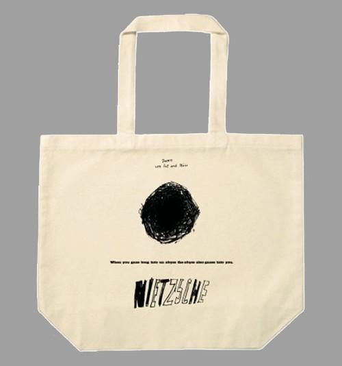 トートバッグ「ニーチェ / Nietzsche」たっぷり大容量 L サイズのトートです! ナチュラル