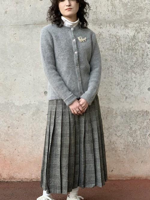 Vintage Angola Wool Knit Cardigan