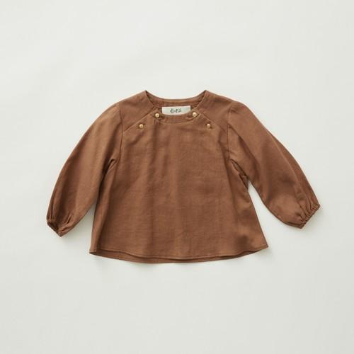 《eLfinFolk 2021AW》C/L washer  baby blouse / brown / 80-100cm