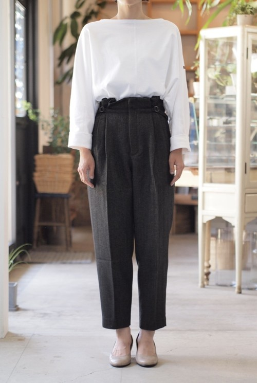 【kha:ki】HIGH WEST TUCK PANTS