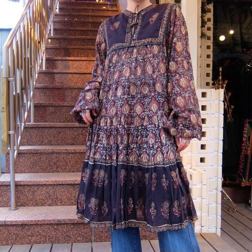 Vintage indian cotton dress/ヴィンテージ インド綿 ドレス