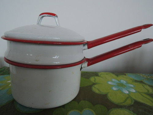 Enabel Double Boiler Pan ホーローダブルボイラー 5000yen