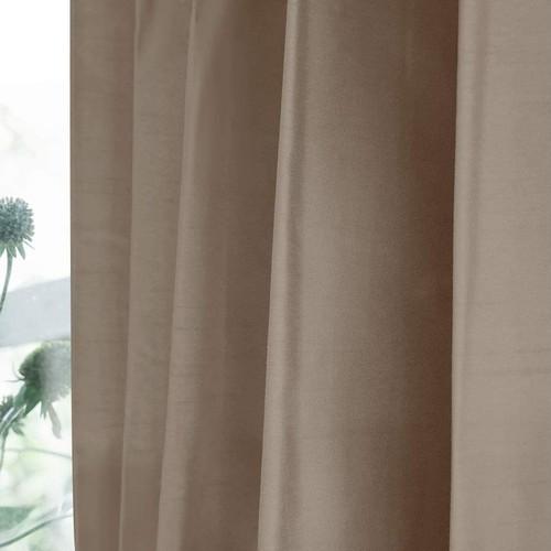 シャイニー/ベージュ 完全遮光 1級遮光 遮熱・断熱 防音 形状記憶加工 ウォッシャブル カーテン 2枚入 / Aフック サイズ(幅×丈):100×200cm kso-023-100-200