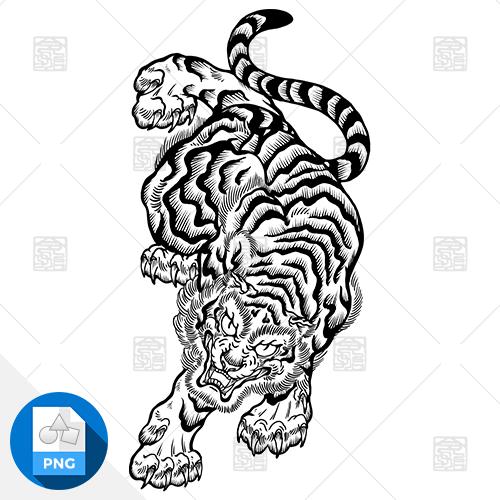【png画像素材】虎3 Lサイズ  横1600px × 縦3000px