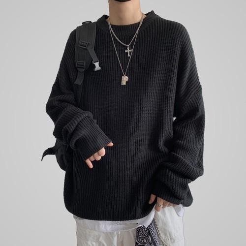 カジュアルルーズニットセーター