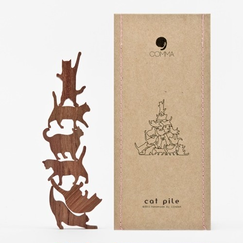 Cat Pile【ピンク】地味にはまる!大人のつみき 色んなポーズのネコジェンガ 全5種類(A73005)