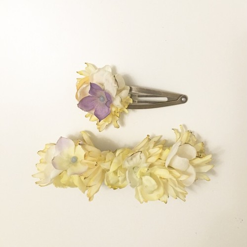 mellow / flower barrette and hair pin set1