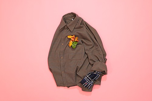 Arm layered big shirt 【BEIGE】