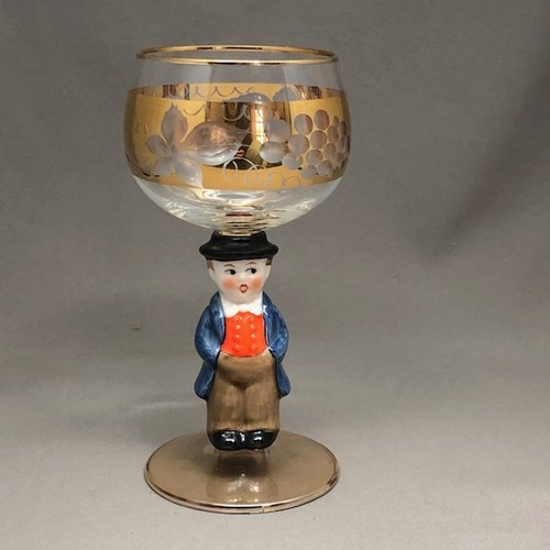 【再入荷】ドイツ Goebel ゲーベル Bockling ボックリング ワイングラス 少年. No1