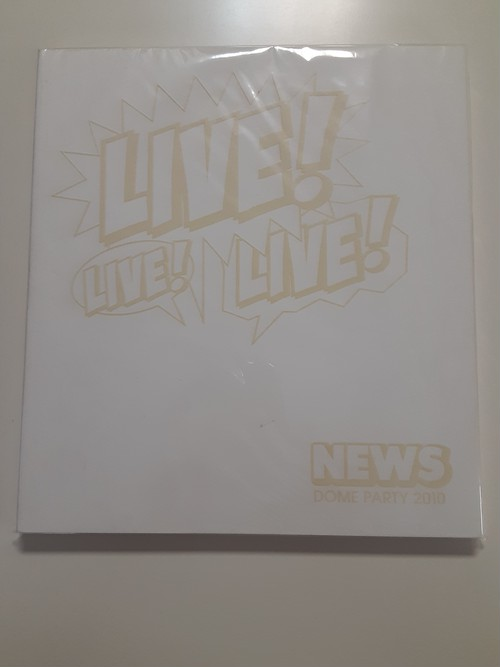 NEWS LIVE! LIVE! LIVE!  NEWS DOME PARTY  2010 パンフレット