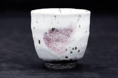雪中華 ぐい吞み(深型)作:谷井芳山・谷寛窯(信楽焼)