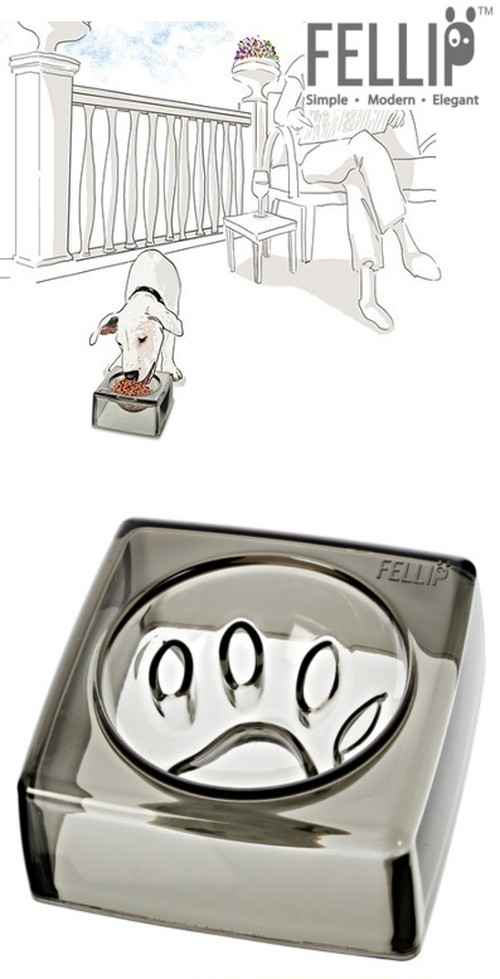 犬用品 DOOG®/Felli Pet Kristal Good Manners Bowl グレー
