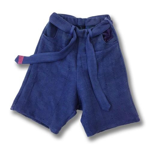 Leh 刺し子 Half Pants 【Indigo】