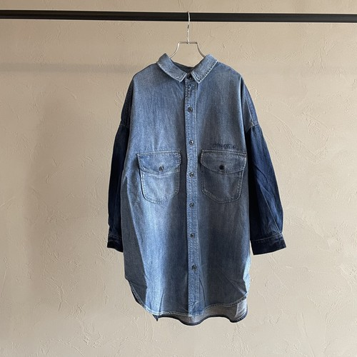 【 ANTGAUGE 】- AA654 - ビッグデニムシャツジャケット(VINTAGE)