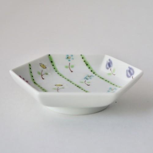 小花 豆皿
