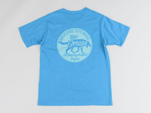 TANGUIS COTTON T-S<THE MOTORCYCLE MAN REIGNS> (SKY-BLUE) /GERUGA