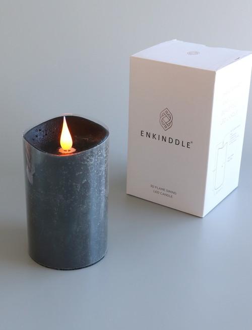 LEDキャンドル Mサイズ:ENKINDDLE「エンキンドル3×5」色:ブラック
