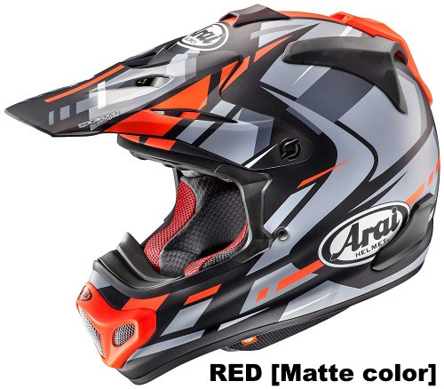 ARAI V-cross4 BOGLE RED Frost