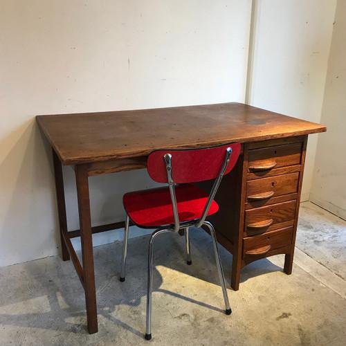 Retro Oak Wood Desk オランダ