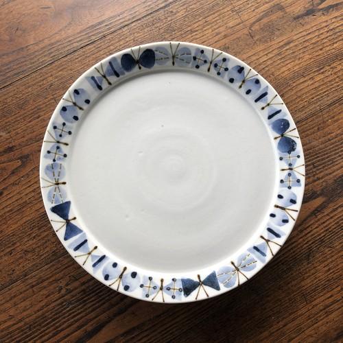 十二月窯さんの6.5寸リム付皿 ちょうちょ