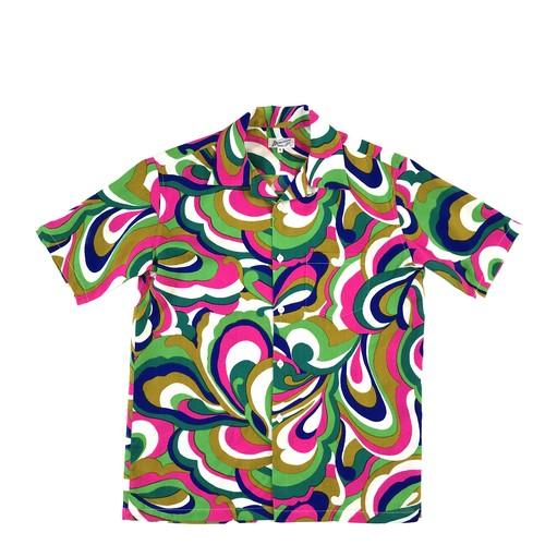 Mountain Men's オープンアロハシャツ / 60's-70's サイケデリック