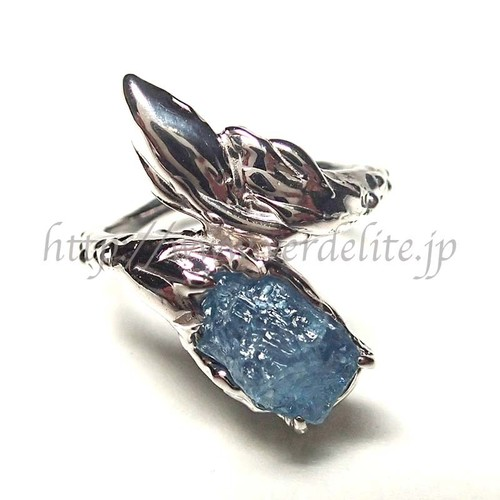 アクアマリン原石のリング SVR22
