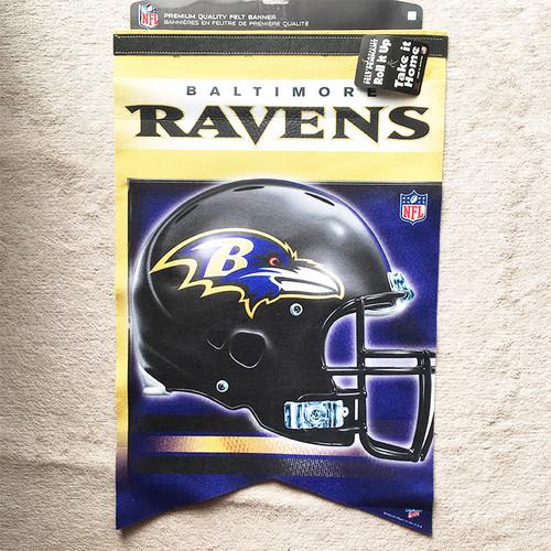 ボルティモア レイブンズ BALTIMORE RAVENS タペストリー フラッグ バナー 高級フェルト NFL 3047