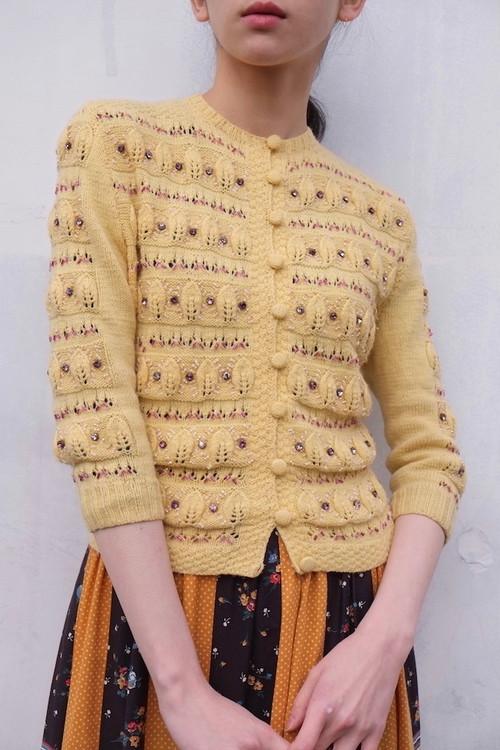 vintage/light source knit cardigan.
