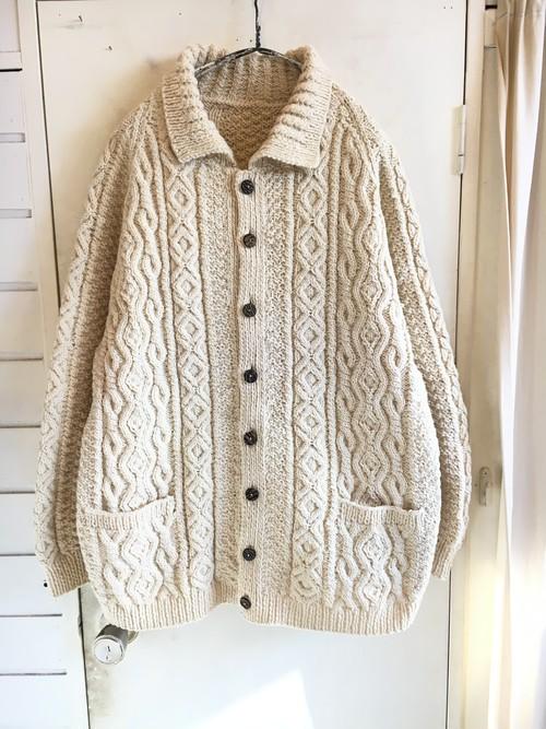 old alan knit cardigan