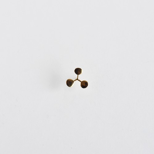 【Pierce Earring】Leaf / Circle S gold