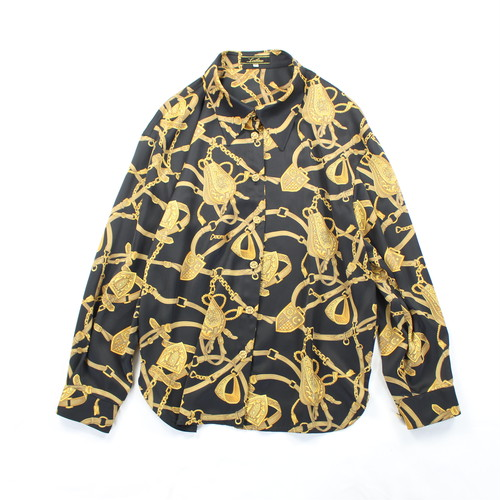 .LEILIAN  PATTERNED ALL OVER LONG SLEEVE SHIRT MADE IN JAPAN/レリアン総柄長袖シャツ 2000000036472