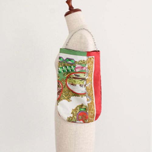 【一点もの】No.11スカーフで作ったプチバッグ