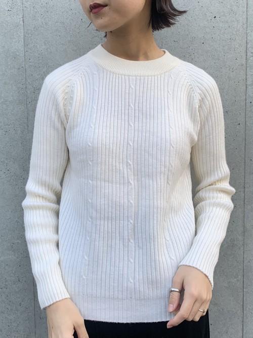 (TOYO) high neck lib knit