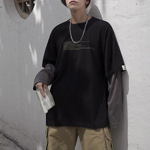 レイヤードラウンドネックTシャツ BL4501