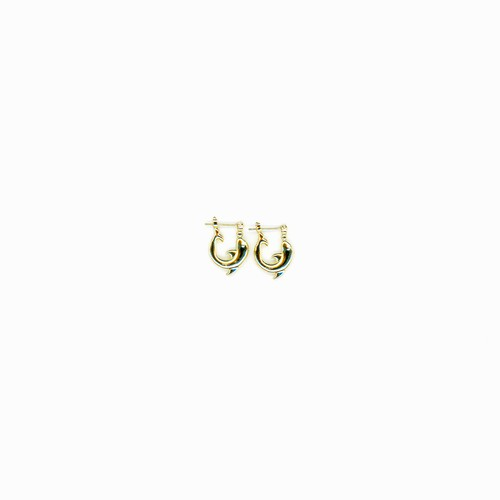 【GF-2-1】Golf Filled Dolphin Earring